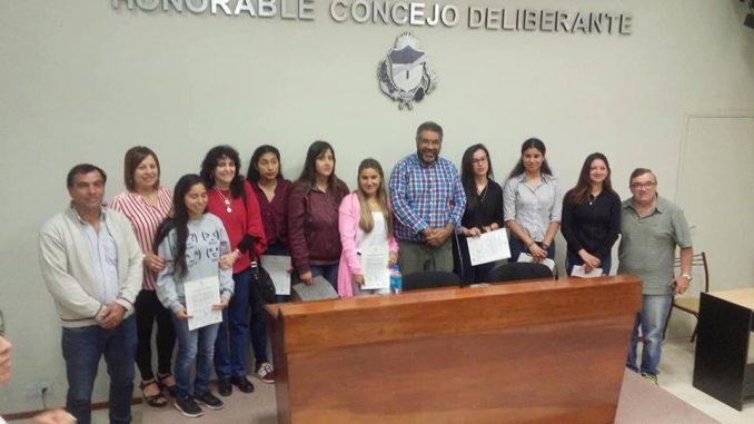 Alumnas distinguidas por el HCD General Alvarado